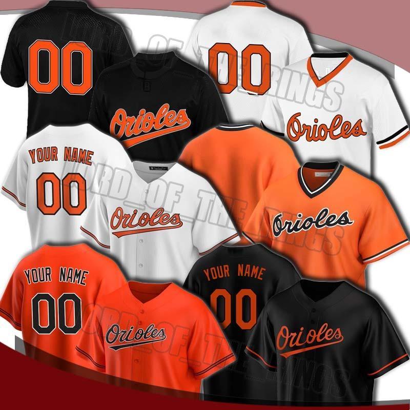Benutzerdefinierte Orioles 8 cal Ripken Jersey 47 John bedeutet Trikots Trey Mancini Jersey Chris Davis Pedro Severino Shawn Armstrong Baseball-Trikots