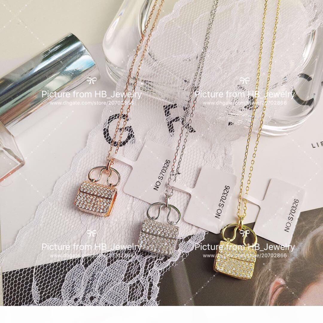 la versione in argento sterling 925 Alta bag designer per partito delle donne della signora di disegno Lovers Matrimonio regalo di monili di lusso per la sposa