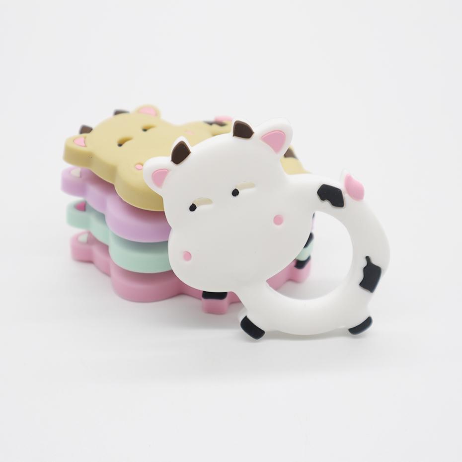 Cow infantil Bebê mordedor BPA animal engraçado gratuito Atacado Rodent dos desenhos animados dentição brinquedos de silicone Chew encanto chupeta Pendant Silicone mordedor