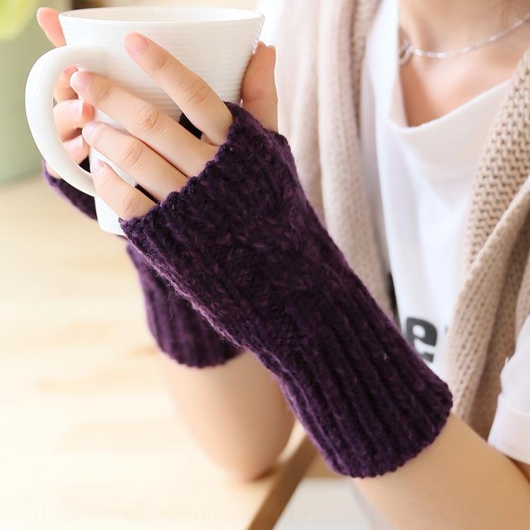 2020 coreano Wristband stile di lana Guanti di lana nuova moda maglia di lana dei guanti mezzi della barretta dito aperto braccialetto necessità quotidiane