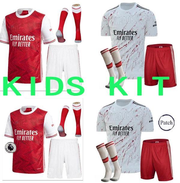 Kinderkit + Socken Arsen Fußball Jersey 20 21 Pepe Nicolas Ceballos Henry Guendouzi Sokratis Maitland-Niles Tierney 2020 2021 Fußball-Hemd