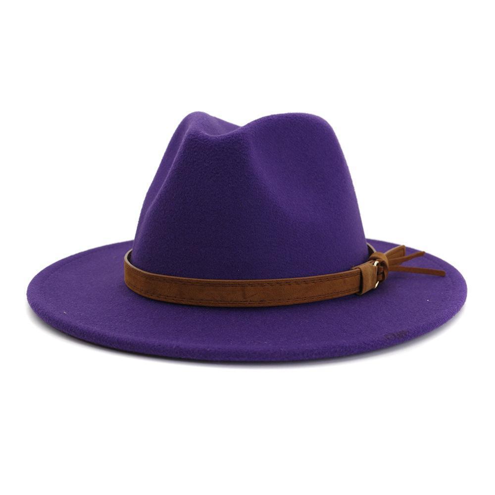 Un nuevo cabello, Un plana Aleros, Un Jazz lateral señora sombrero sombrero del sol del verano del sombrero recto con el cinturón