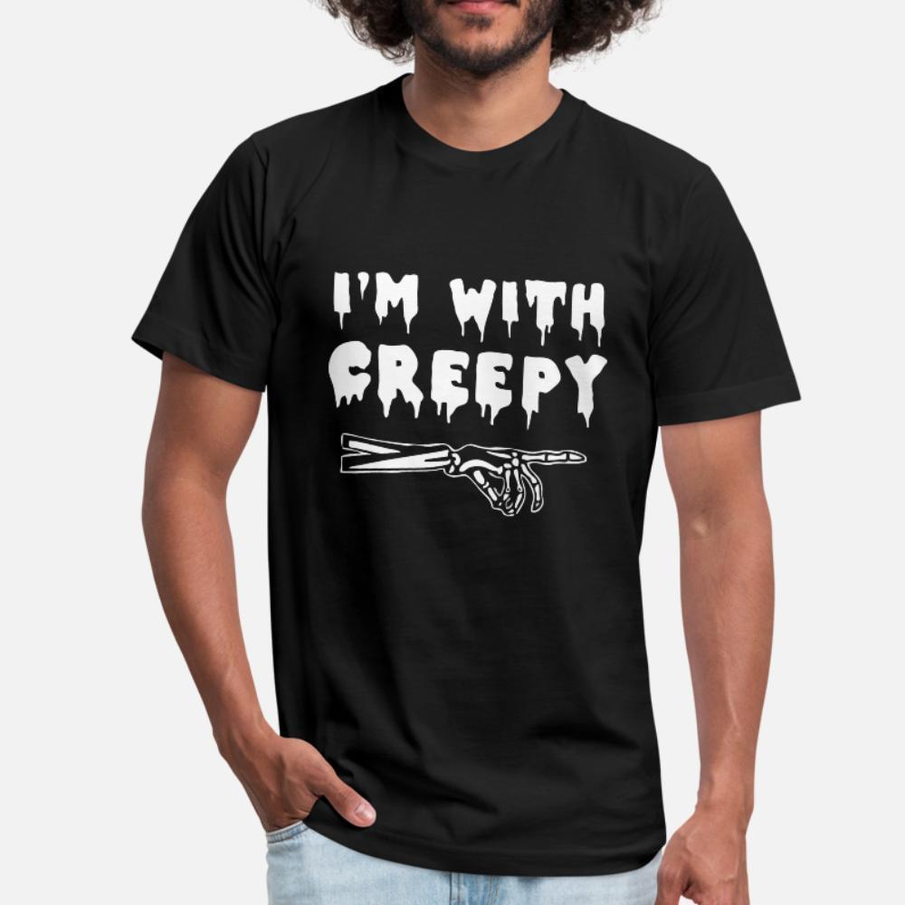 I M Con Creepy uomini della maglietta di disegni 100% cotone rotonda Collare standard fitness Humor Primavera Vintage Camicia