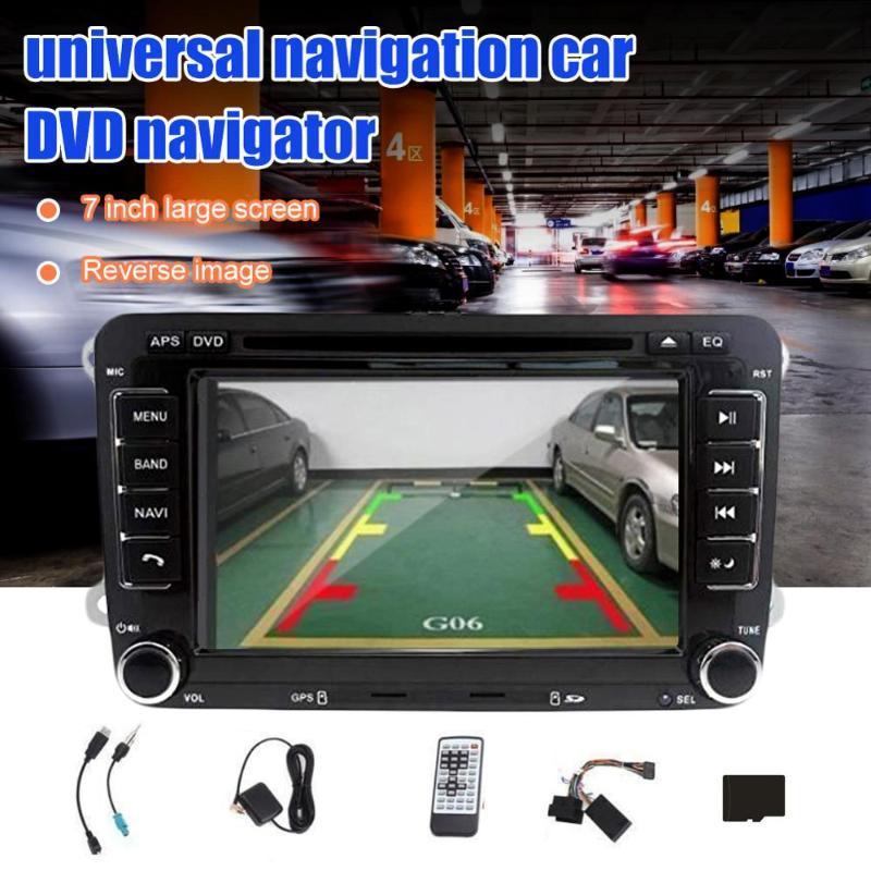 Letouch Autoradio Bluetooth Stereo 7 Zoll 2 Din HD GPS Navigation Stereo für VW Support-DVD-CD-Radio SD Card-USB + Backup-Kamera