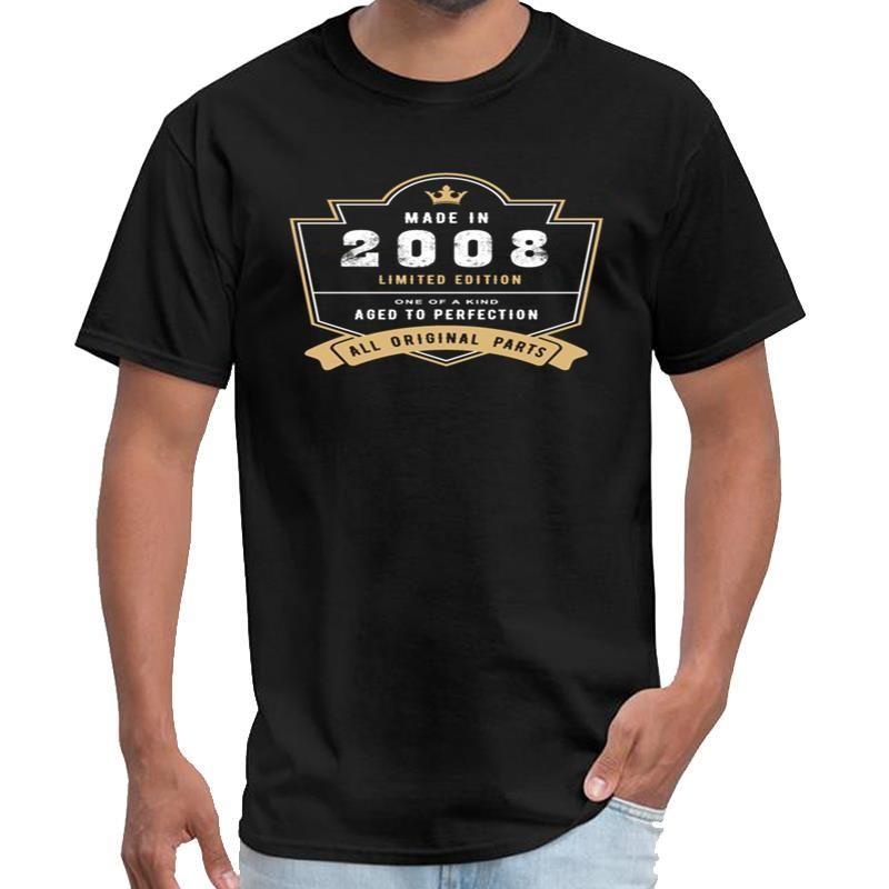 Hilarious Made In 2008 Limited Edition Alle Original-Teile Tätowierung Shirt Herren unisex T-Shirt 3xl 4xl 5xl 6xl Normal