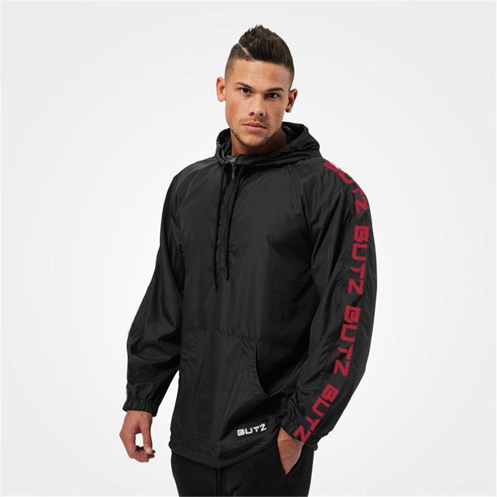 Muscle Fitness kardeşler Gömlek sonbahar çalışan spor giyim rüzgar geçirmez ince erkek ceketi fermuar gömlek spor ceket erkek