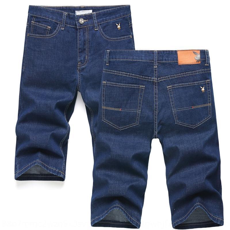 WYKmT 2020 pantalones cortos de verano pantalones cortos juveniles de estilo coreano y 7 puntos de moda los pantalones vaqueros Medio delgado y pantalones vaqueros pantalones de 5 puntos de los hombres de los hombres