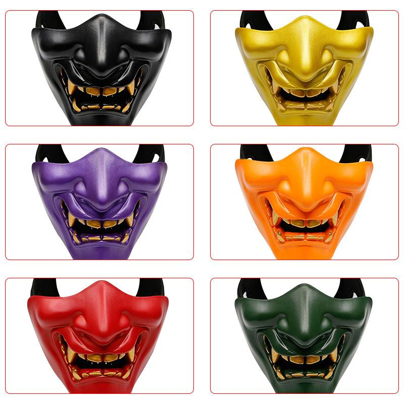 Spedizione gratuita Halloween Ridere Prajna tattica Maschera COS Devil Horror Smorfia Maschio Adulta maschera di protezione mezza Birthday Party Mask F3103