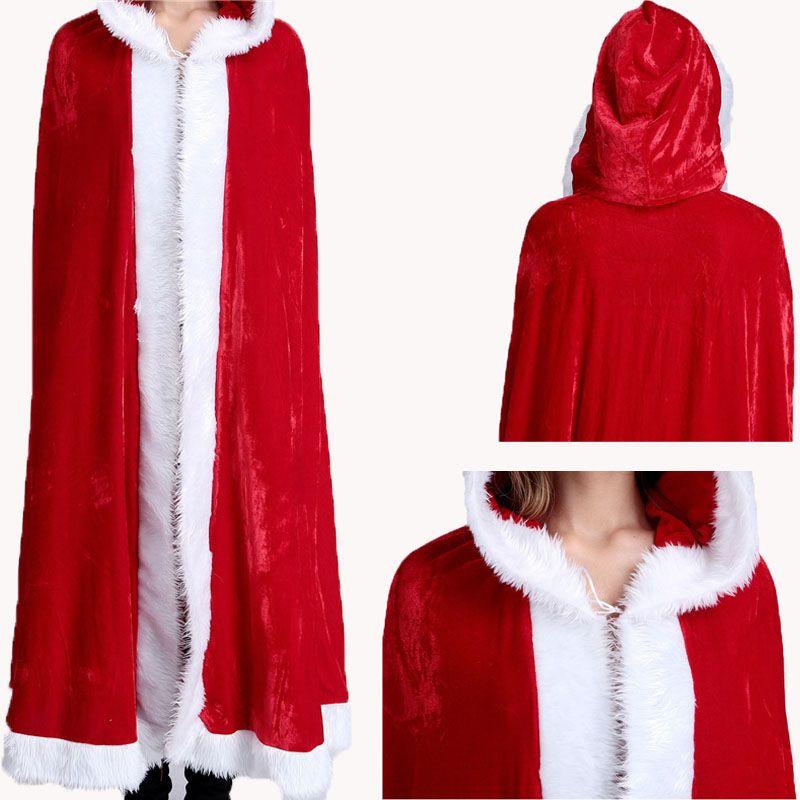 Casual Moda para mujer de Navidad con capucha de terciopelo rojo abrigos de piel de invierno para mujer diseñador chaqueta de punto