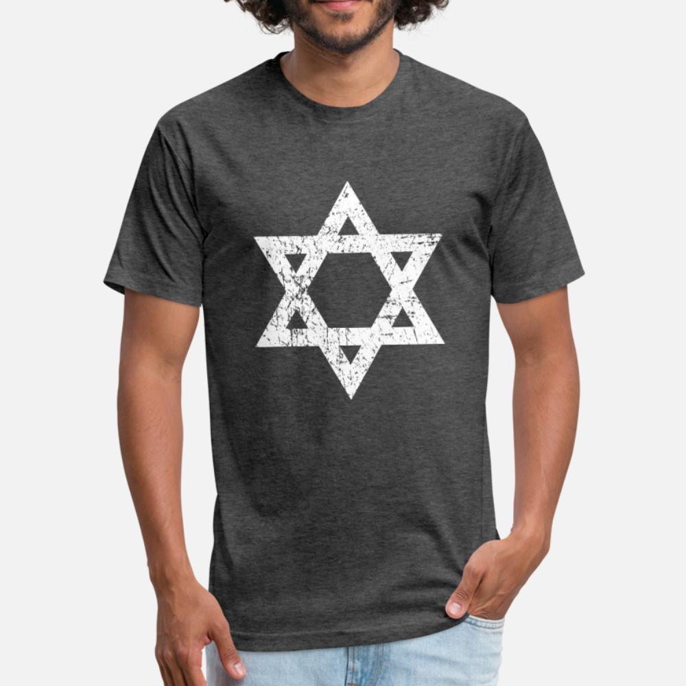 Vintage Davidstern T-Shirt Männer-Charakter Short Sleeve Größe S-3XL Kleidung Berühmter Grund Sommer-Art-Neuheit-Shirt