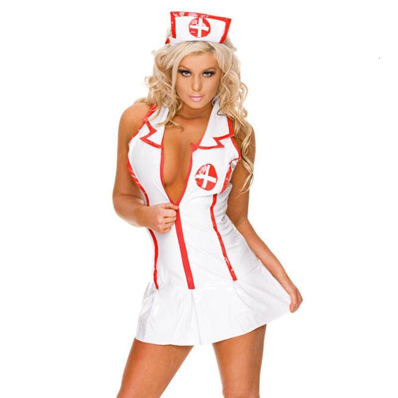 BOHOWAII 1 комплект женщины сексуальный медсестра Равномерный Установить Косплей Fancy Dr One Size Школьница Костюм