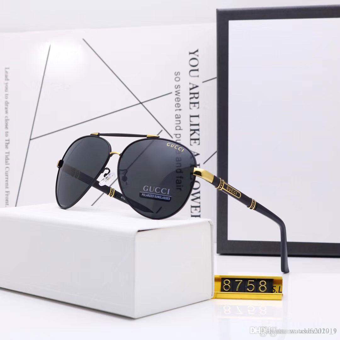 Модельер Pilot солнцезащитные очки Мужчины вождения Sunglass поляризованные Большой рамки Мужские Женская мода Марка Рыбалка ВС очки горячее