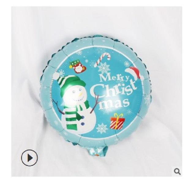 2021 vente chaude décorations de fête de Noël ballon en aluminium de Noël 18 pouces Père Noël bonhomme de neige Décorations de Noël élans 002