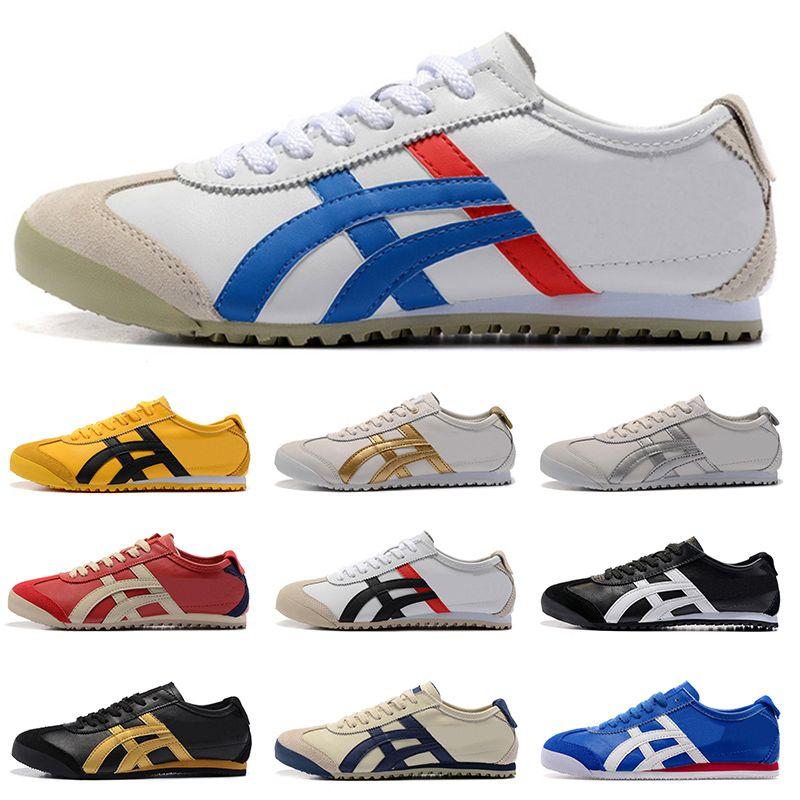 Asic Onitsuka Tiger Running Shoes Womens Bruce Mens lee vermelho branco confortável apartamento Athletic Trainers Outdoor Sports Sapatilhas 36-44