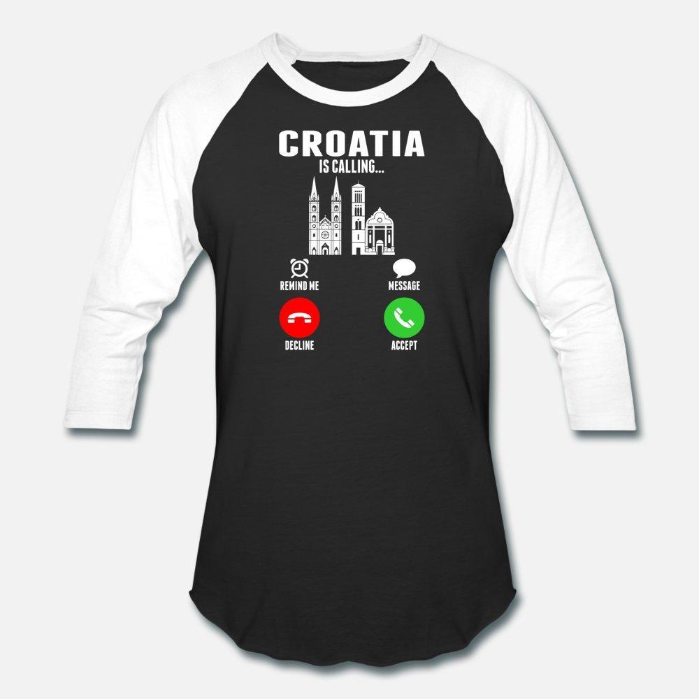 Croazia Is Calling uomini della maglietta Customized maglietta S-3XL Regalo Modello comodo camicia Primavera Autunno Trend