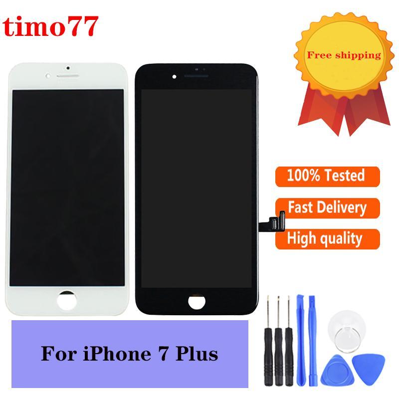 Dokunmatik Sayısallaştırıcı Ekran Aksamı Yedek Ücretsiz DHL ile iPhone 7 Plus LCD İyi Kalite Yok Ölü Piksel İçin LCD iPhone 7P Ekran için