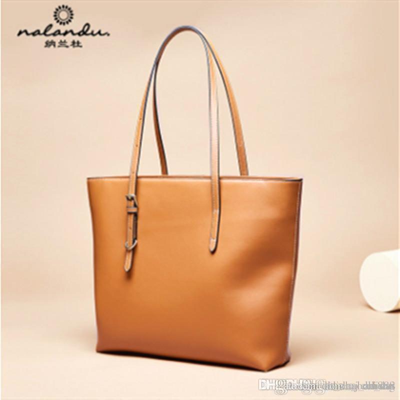 P13 Nalandu мода большая сумка новой 2020 большой емкости пригородной кожа сумка мягкой кожа тотализатор сумка женщины