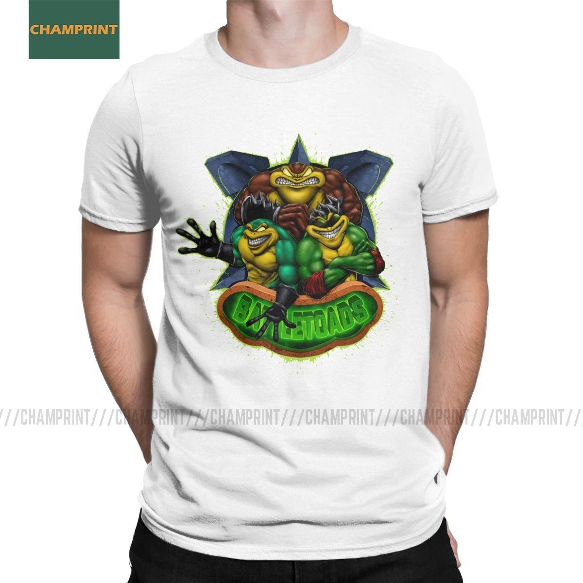 Brutal sapos Battletoads camiseta para hombres ranas juego retro viejo ranas juego de la novedad de algodón camisetas de manga corta camiseta de Tamaño