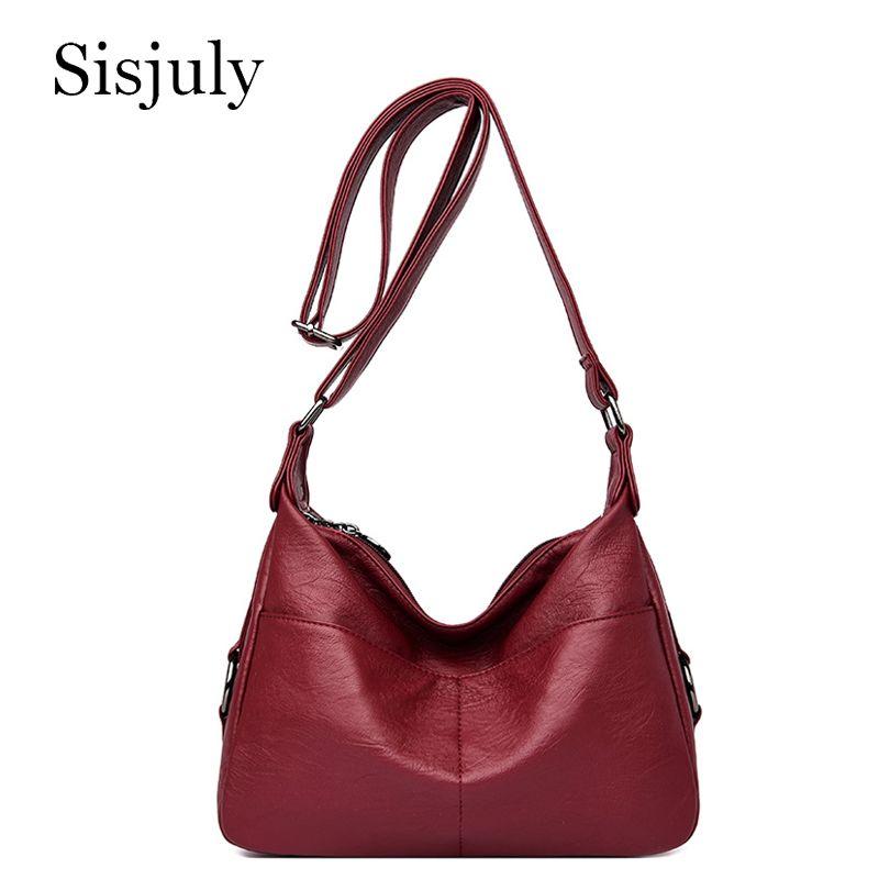 Sisjuly Мода Zipper Женщины сумка плеча Стиль Малый Crossbody Сумки для женщин 2020 люкс, сумки конструктор сумка Boslo Feminina