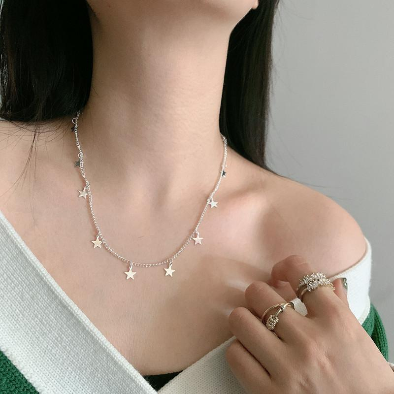 Golden Tie same choker fashion simple five-pointed pendant necklace star jewelry
