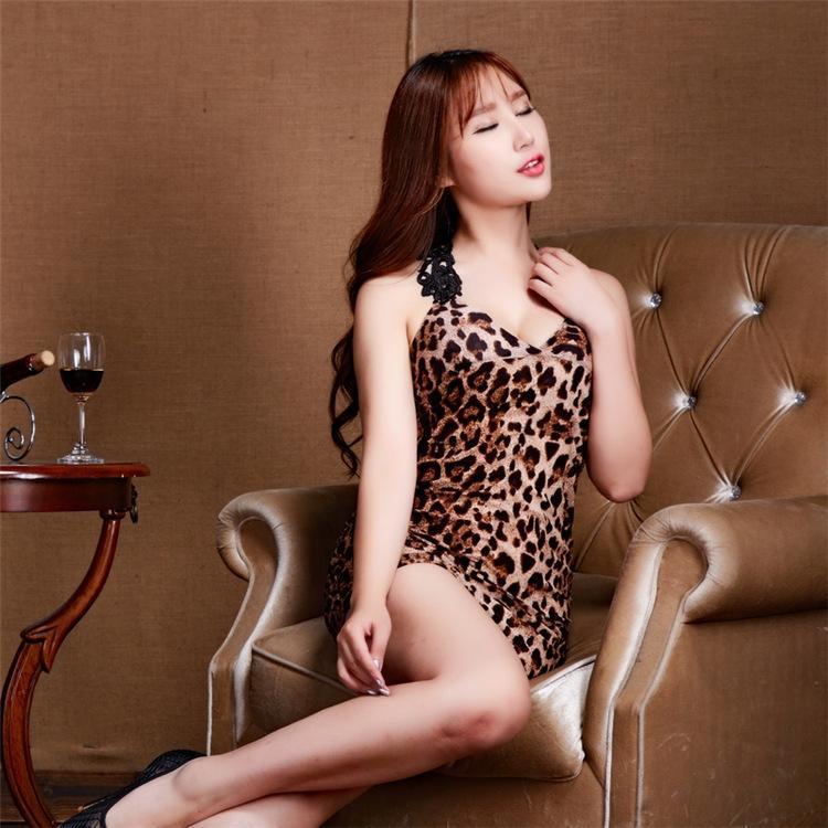 vestiti di DODul sexy Ktv discoteca abito da sera sera abbigliamento biancheria intima del vestito vestiti bar leopardo vestito tentazione stampa KTV signora