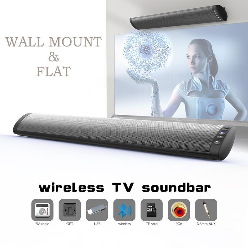 BS41Soundbar Bluetooth Altifalante Home Theater Sound Bar de TV com fio e sem fio duplo Speakers Suporte Radio TF FM
