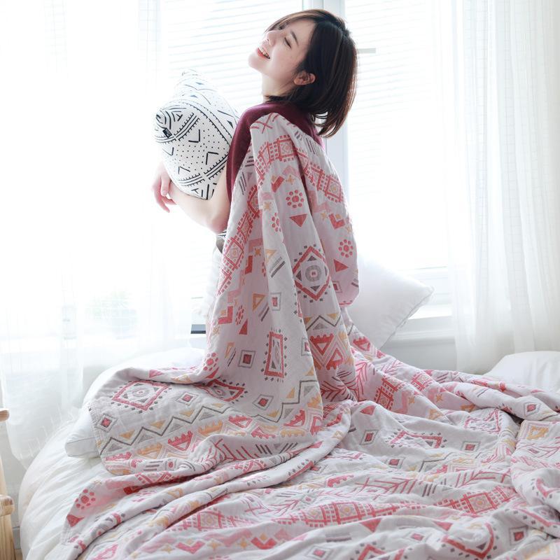 Mousseline légère d'été Couverture pour Canapé-lit en coton douce et chaude rapide Couvertures Throw Dry DRAP Couvre-lit