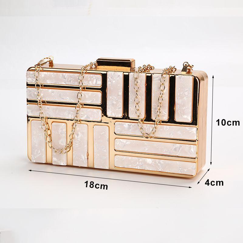 Womens Clutch Bag Acrylic Evening Bag Party Wedding Clutch Pink Purse and Handbag Women Shoulder Bag A85