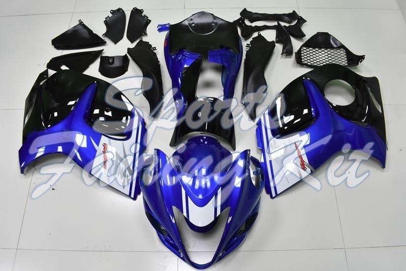 Tam Vücut Kitleri GSX R1300 2008 - 2014 Mavi Siyah Beyaz Vücut Kitleri GSXR 1300 2008 Vücut Kitleri GSXR 1300 2008
