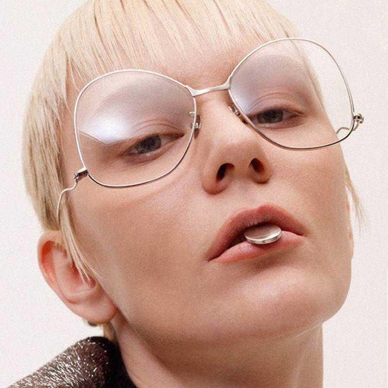 Venivedi al por mayor 2017 nuevos vidrios de las mujeres del marco lentes grandes del marco óptico de las lentes claras de prescripción de gafas de metal aleaciones eKXC #