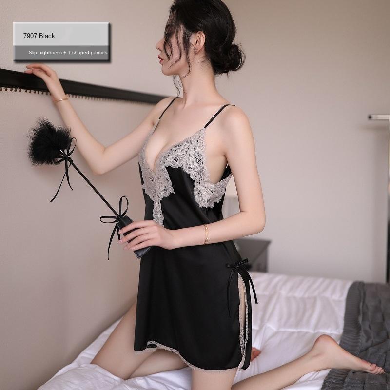 WEbww nouveaux sous-vêtements féminins sexy pyjamas de sous-vêtements pyjama sexy tentation passion Guan Yun fantaisie 7907