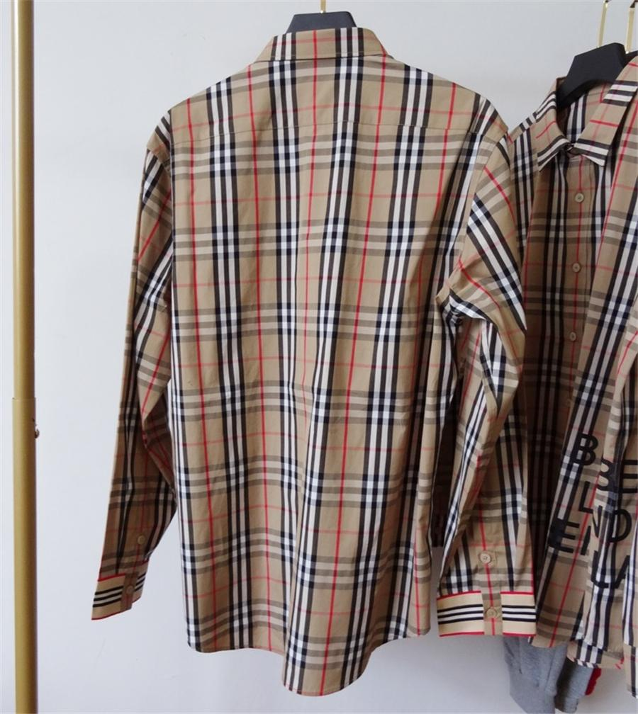 Toptan Kadınlar Slayt Bluzlar Klasik Moda Bluz Ekose V-Yaka Gevşek Kadın Casual Lady Geometrik Gömlek Uzun Kollu Gömlek Artı S # QA808 Tops