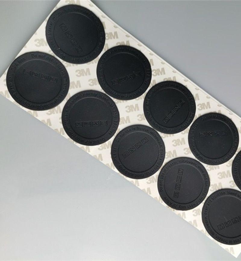 15oz 20 oz için Kauçuk Alt 30oz Sıska Tumbler Siyah Coaster Sticker Kauçuk Yapışkanlı Alt Siyah Alt Koruyucu Kapak Kapağı