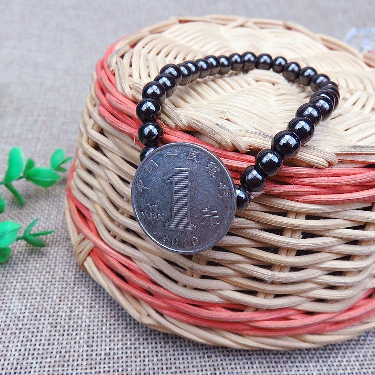 6mm ronda negro bilishi Buda perlas magnéticas Salud Cuentas Imán pulsera del cuidado médico pulsera de regalo imán