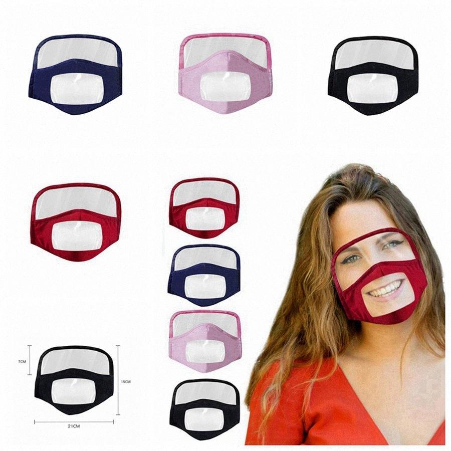 2 en 1 Masque visage avec un masque de coton lavable Bouclier anti-poussière Masque pour les yeux Faire du vélo réutilisable visage transparent Bouclier de protection Visage RRA3275 Byhk #