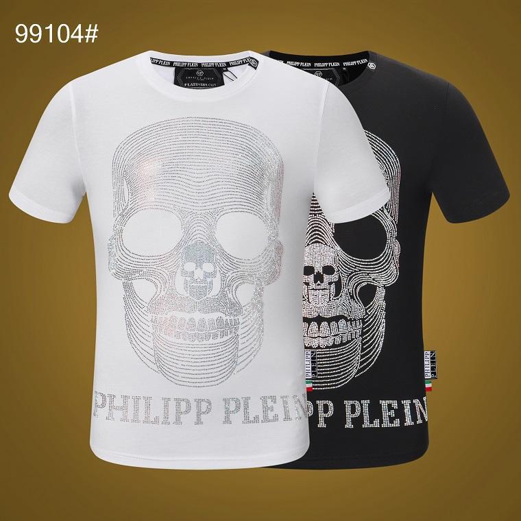 2020 neues weißes und schwarzes Kurzarm-T-Shirt, der Oberkörper-Effekt ist super, modern und vielseitig einfache kurze Ärmel