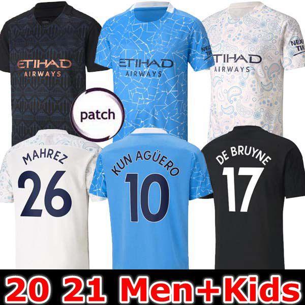20 21 مدينة جيرسي لكرة القدم 2020 2021 رجل قميص STERLING كرة القدم مانشستر KUN AGUERO DE BRUYNE GESUS BERNARDO MAHREZ أك FERRAN الرجال الاطفال