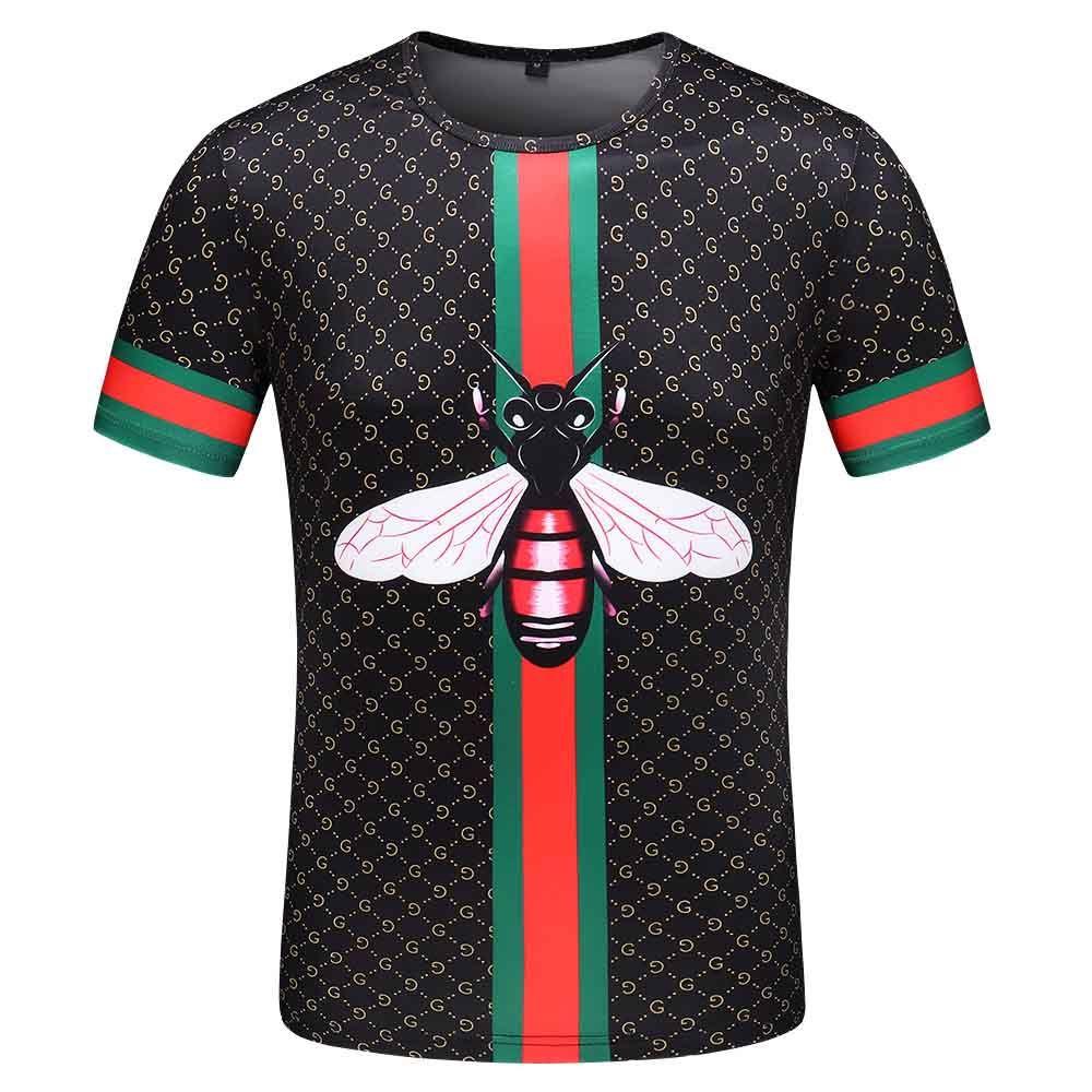 Diseñador manera caliente de la camiseta para hombre Para Hombres manga corta transpirable Camiseta con letras de verano Camiseta Medusa camiseta de manga corta