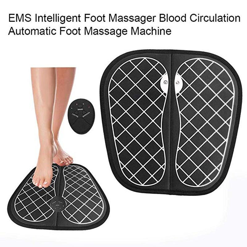 Elektrische EMS FußMassager Pad Füße Muskelstimulator Fußmassage Mat Blut-Zirkulation Entlasten Ache Schmerz Verbesserung der Gesundheitsversorgung