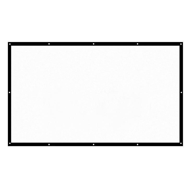 60-150 pollici proiettore portatile dello schermo HD 16: 9 schermo di proiezione bianco Diagonale video pieghevole Parete casa