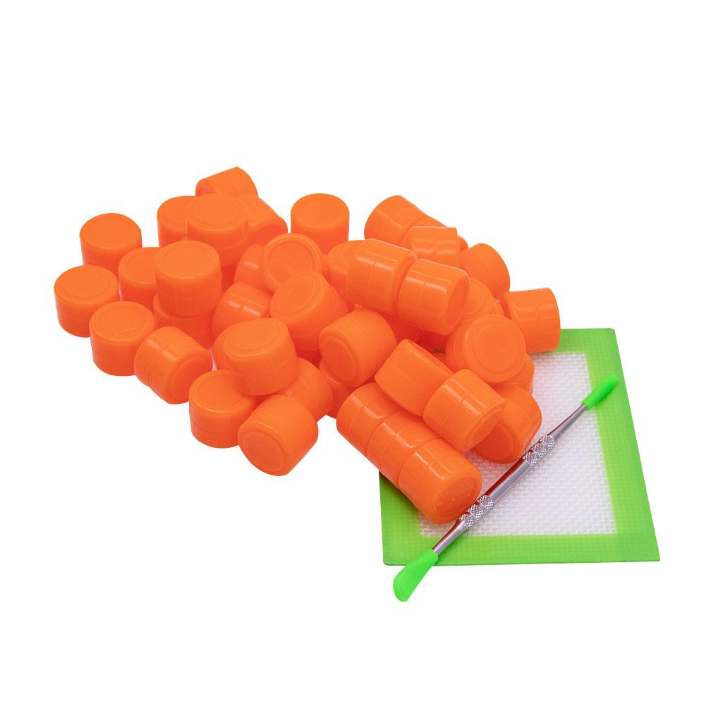 2ml contenants en silicone cire outil dabber grand tapis de silicone pad de Dab kits d'outils dab conteneur pour la cire bong dab plates-formes pipe