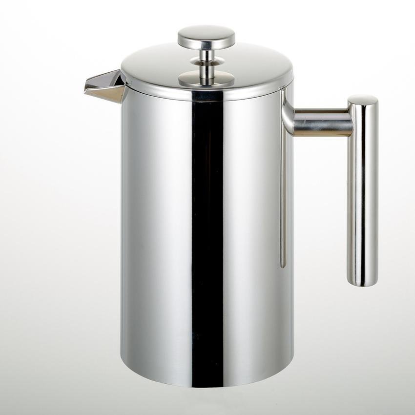 350/800 / 1000ML Caffettiere Stampa francese Caffettiera a doppia parete in acciaio inossidabile Caffettiera tè e caffè Pot con filtro Filtro GGA3697