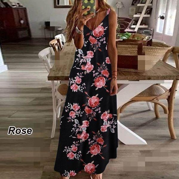 feriado FEm0r novo verão indiano impressa Big suspender longo 2020 estilo de vestido de saia vestido de grande balanço das mulheres