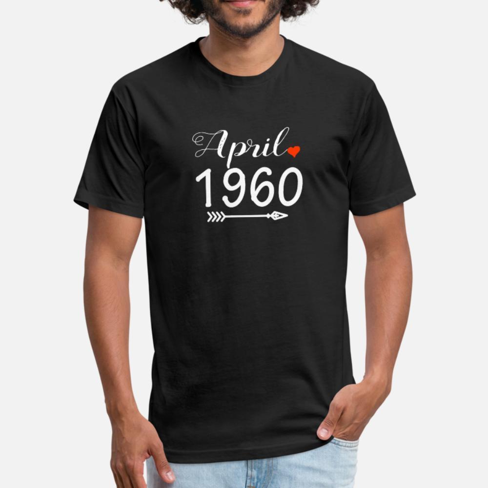 Flecha del corazón de abril de 1960 hombres de la camiseta Diseños de manga corta cuello redondo básico Fotos camisa maciza gráfico de la moda de verano