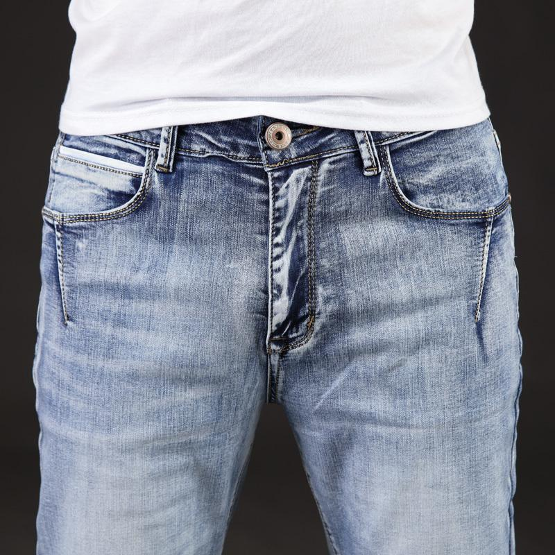 2020 Autumn New Arrival Fashion Brand Men Jeans Washed Slim Jeans For Men Casual Pants Plus Size 40 42 44 46 CX200824