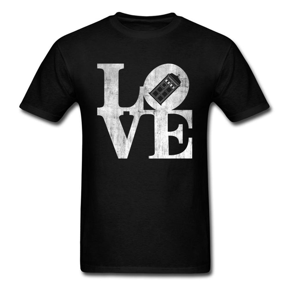 Giyim Erkekler Tişörtlü Üst Kalite Casual Marka Tee Gömlek Babalar Günü En İyi Hediye Tişört Aşk Dünya Alfabe Basit Tişört En Yeni