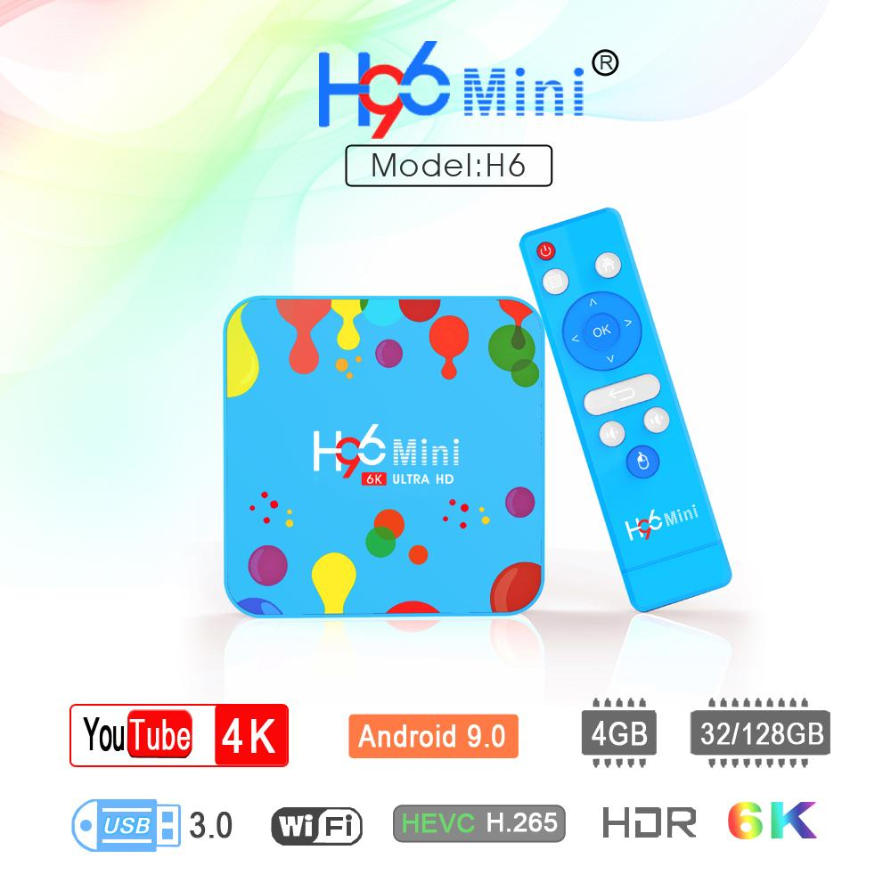 H96 Mini H6 Android 9.0 TV Box With Allwinner 4GB 32GB Streaming Media Player 2.4G 5G Dual Wifi BT4.0