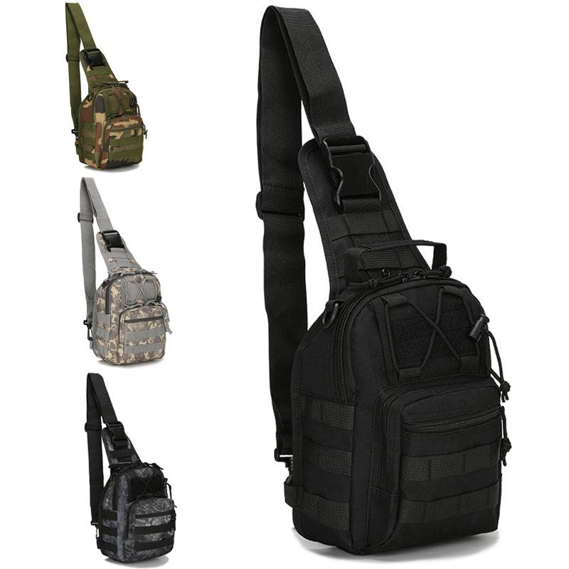 Tactical Camouflage Chest Bags Outdoor Camping Hiking Bag Single-Shoulder Bag Bicycle Camo Storage Bag Sports Diagonal Package TQQ BH2405