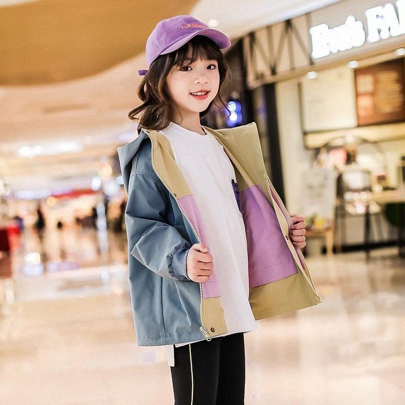 2020 2020 neue Mädchen Spring Fashion Zwei Side Wear Cotton-Mantel-Jacken-Baby-Kind-Sommer-Kleidung School Girl Lässige Kleidung Mantel Von Ja2Y #