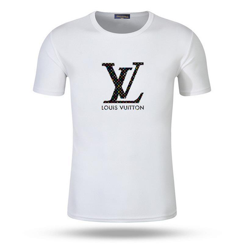 Louisvuitton de lujo camiseta de la camiseta de manga corta de los hombres del diseñador de la calle impresa de los hombres del verano del desgaste camisa superior de lujo camiseta